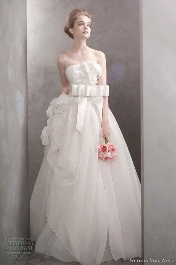 b2be6eaec09 Beautiful wedding dresses from White by Vera Wang Spring 2012 wedding gown  group.