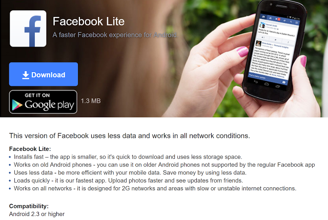 download facebook lite apps for android