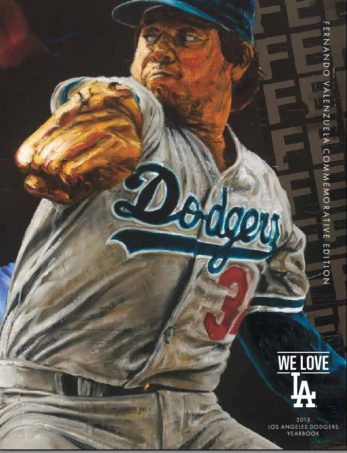 Introducing the 2015 Los Angeles Dodgers Yearbook  Fernando Valenzuela  Commemorative Edition d5baf6594