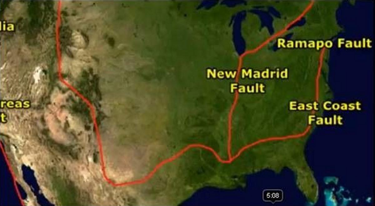 united states fault lines map earthquakes could also happen in east coast and in the midwest cites