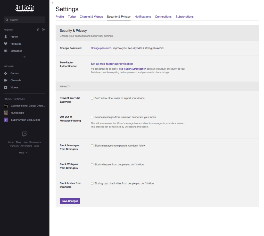 Two-Factor Authentication Now Available on Your Twitch Account