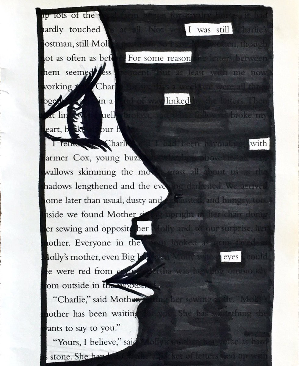 why every poet should experiment with blackout poetry. Black Bedroom Furniture Sets. Home Design Ideas