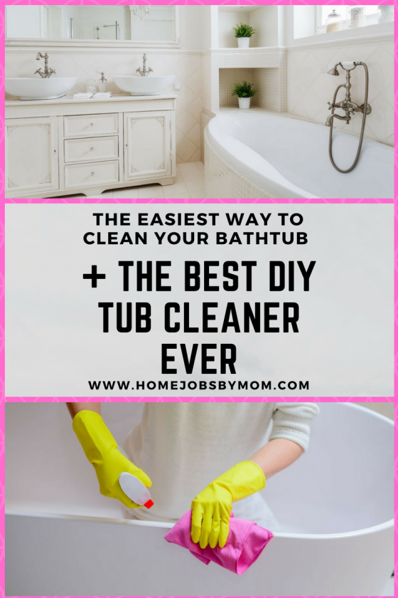 The Easiest Way To Clean Your Bathtub The Best DIY Tub Cleaner EVER - Best thing to clean bathtub
