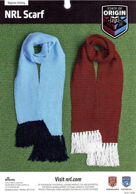 Nrl Scarf Free Knitting Pattern Michelle Sommerville Medium