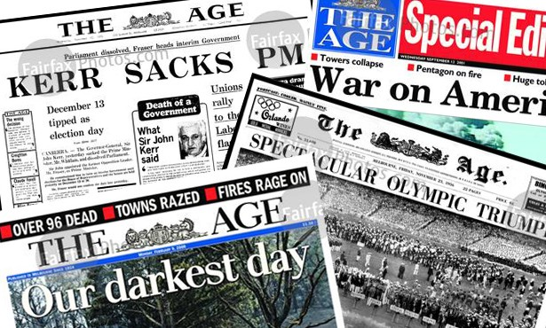 The Age front pages
