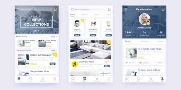 Best Home Page Design: 5 Best APP UI Design For Your Inspiration In 2018