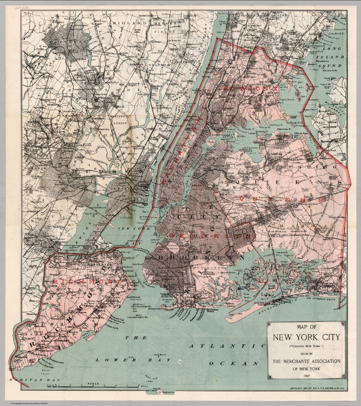 Map of the Five Boroughs of New York City