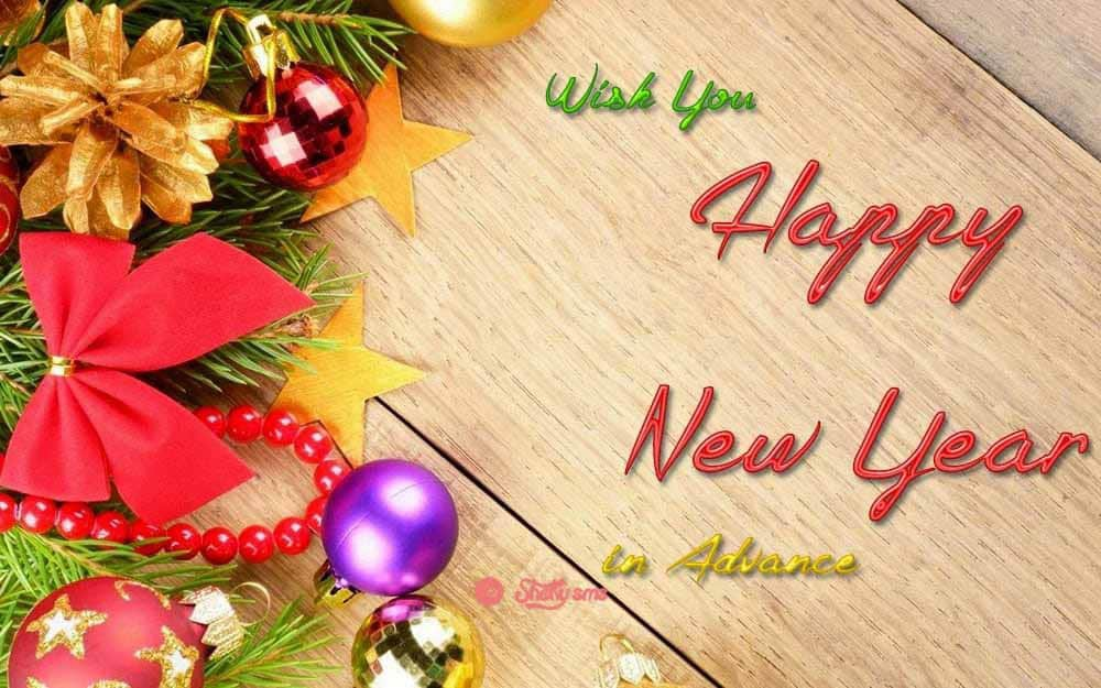 happy new year advance wishes 2018