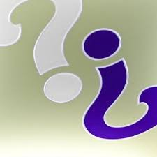 stylized question marks