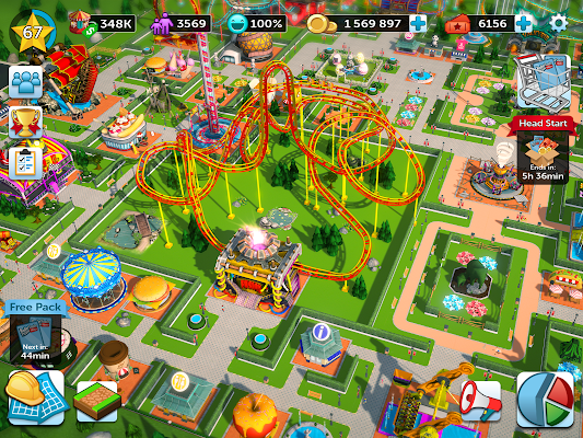 theme park apk data