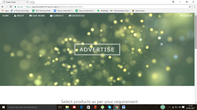 Advertise Page for Green Strips – Green Strips – Medium