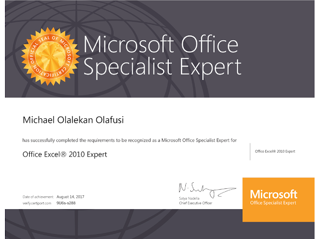 Passed Mos 77888 Excel 2010 Expert Exam On My Way To Becoming An Mct