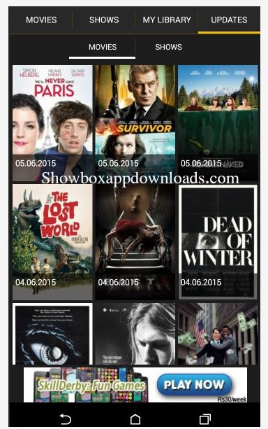 free showbox app download for android