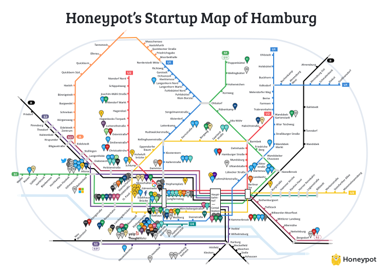 Hamburg startup map honeypot medium more understated than munich a lot friendlier than berlin and with a strong regional character of its own hamburg has a lot to offer entrepreneurs ccuart Image collections