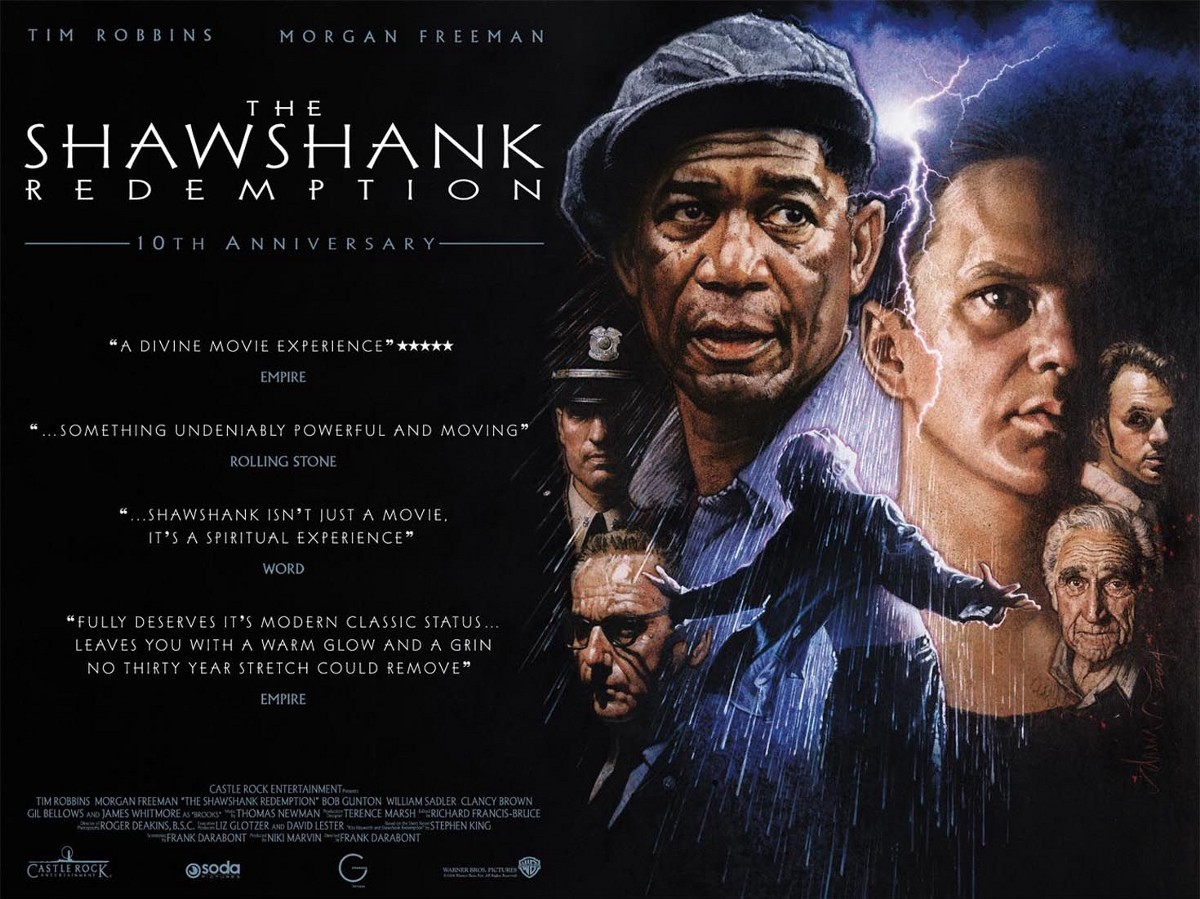 "shawshank redemption reflection Actress award, and is reflected in the minute or so where halle berry  composes herself  morgan freeman in ""the shawshank redemption."