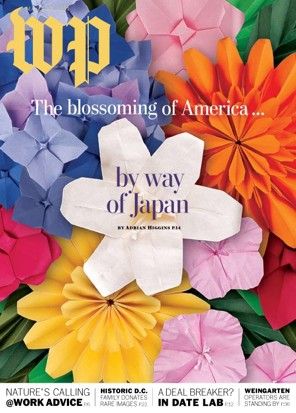 How to make the paper flowers from the washington post magazine cover cherry blossom origami how to make the paper flowers from our magazine cover by beth chang when adrian higgins wrote about japanese influence on american mightylinksfo