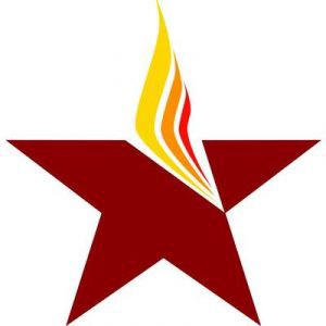 A flaming star - the Gender Justice League logo