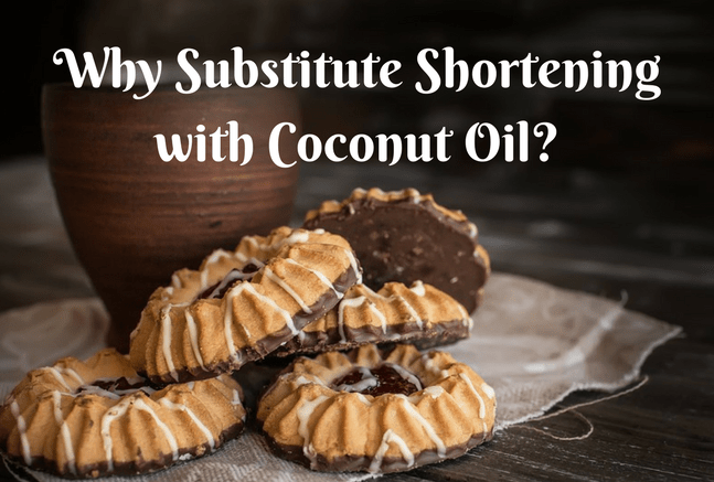 Can i substitute coconut oil for shortening in cookies