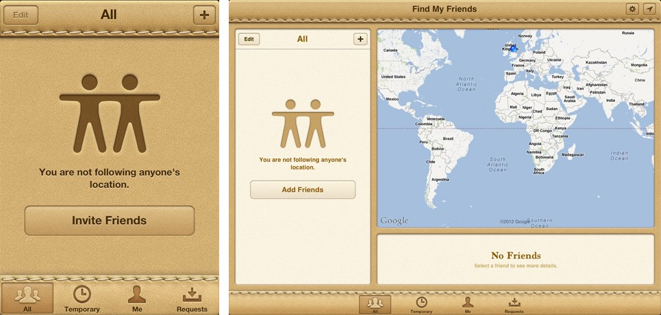 Apple's Find My Friends Interface – Geoff Teehan – Medium