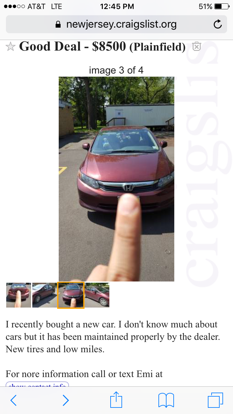 That Time My Ex Tried To Sell My Car On Craigslist – lovemeproject ...
