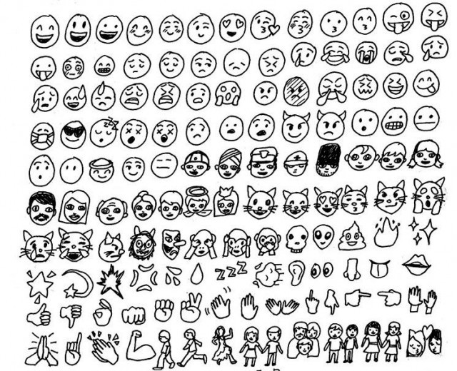 how to draw all the emojis