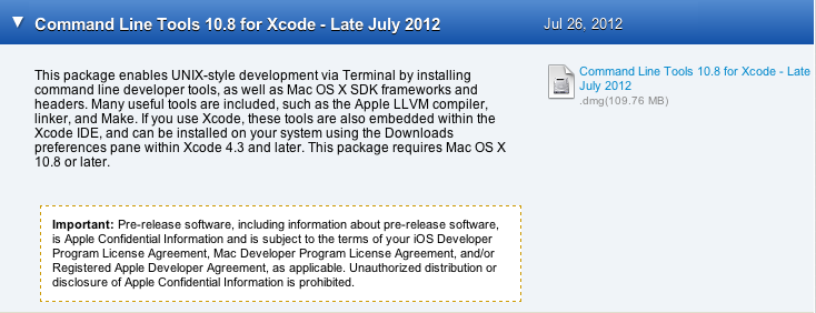 Prerequisites for OS X