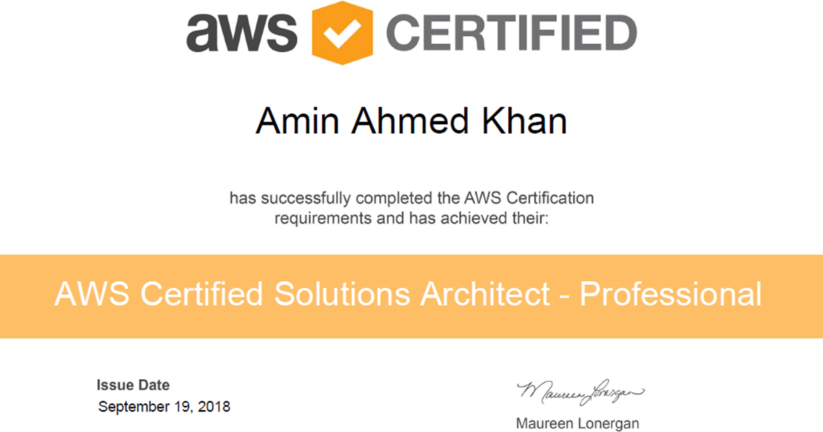 Journey Towards Aws Certified Solutions Architect Professional Exam