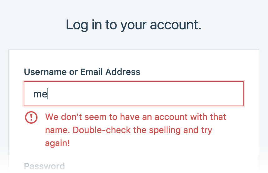 Sending the right message with form validation