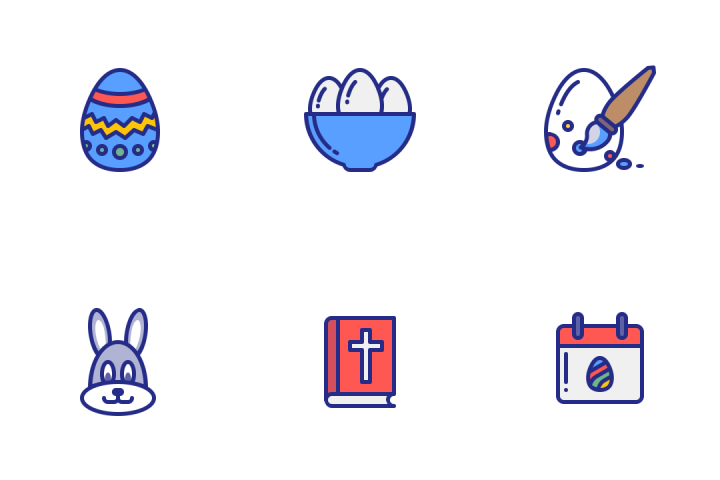 Easter 2017 Icons by Jemis Mali