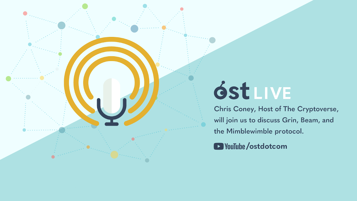 Recap from OST LIVE with Chris Coney, Host of The Cryptoverse—Mimblewimble Explained