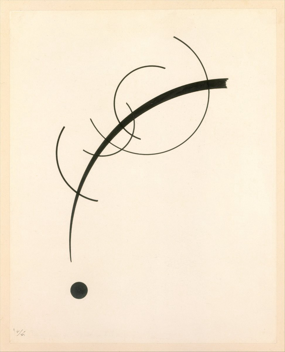 Title: Free Curve to the Point - Accompanying Sound of Geometric Curves | Author: Wassily Kandinsky | License: CC0