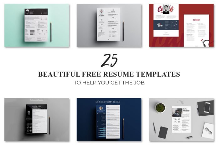 25 Beautiful Free Resume Templates for Designers in 2018