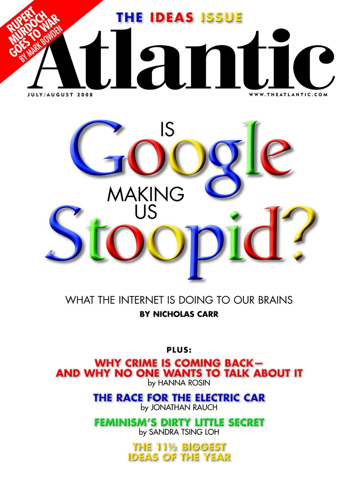 essay google making us stupid Summary of is google making us stupid by nicholas carr in the article by carr on is google making us stupid carr highlighted a quote from an essay by the.
