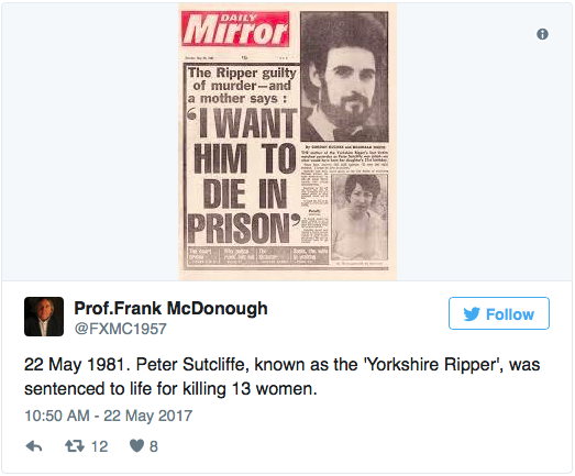 Yorkshire Ripper' Sutcliffe May Be Responsible for Unsolved Swedish