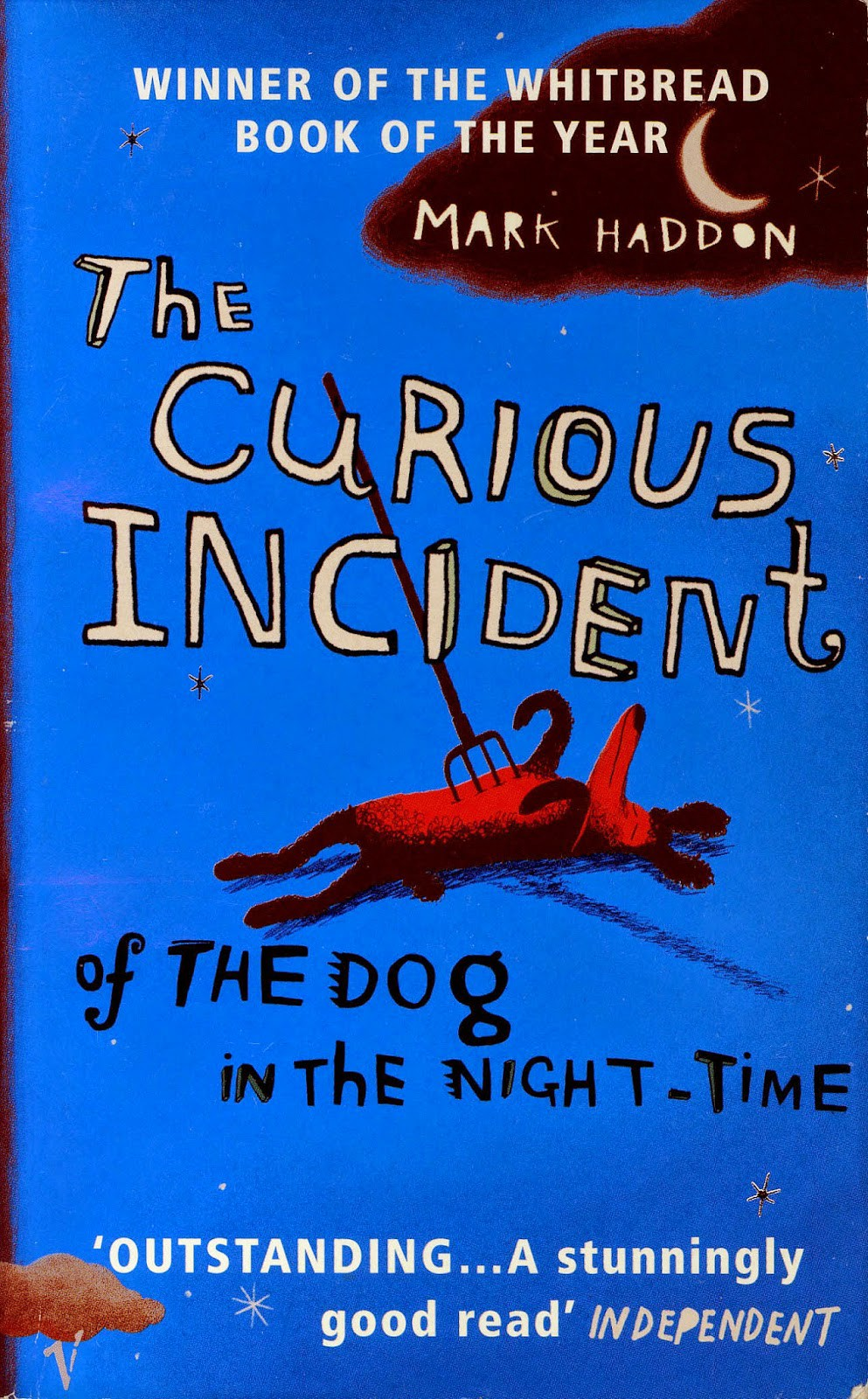 the curious incident of the dog in the nighttime essay thesis The curious incident of the dog in the night-time (2003) [1] is an image-laden bildungsroman told from the point of view of teenage narrator christopher boone christopher is a young man dealing with his parents' failing relationships, mysterious gaps in his knowledge of his family history, and the recent murder of wellington, a neighbor's poodle.
