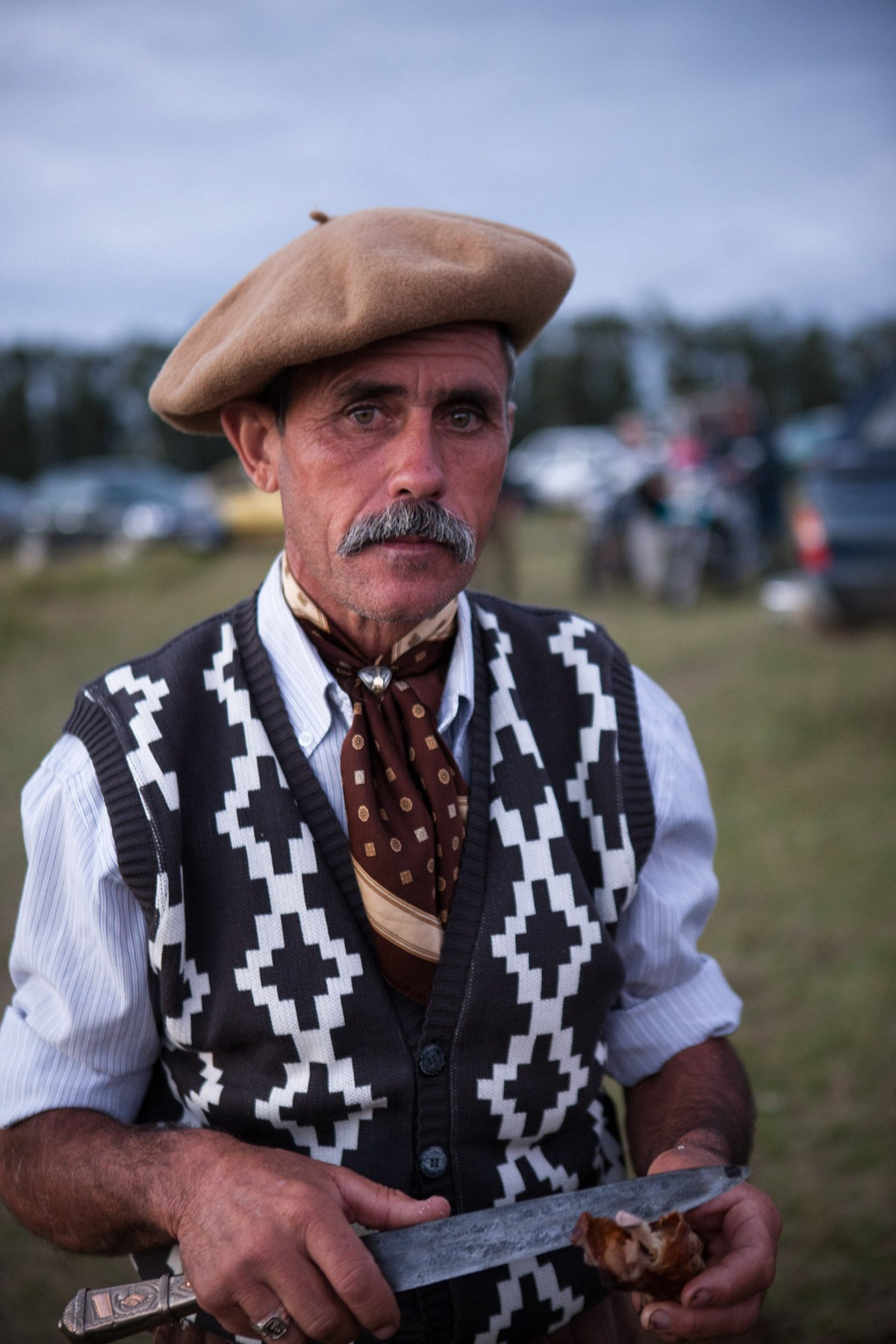 The facón is a utility knife used by gauchos to castrate livestock, carve hunks of meat for roasting over roaring fires, and occasionally to settle brawls. ©James Fisher 2017 All Rights Reserved