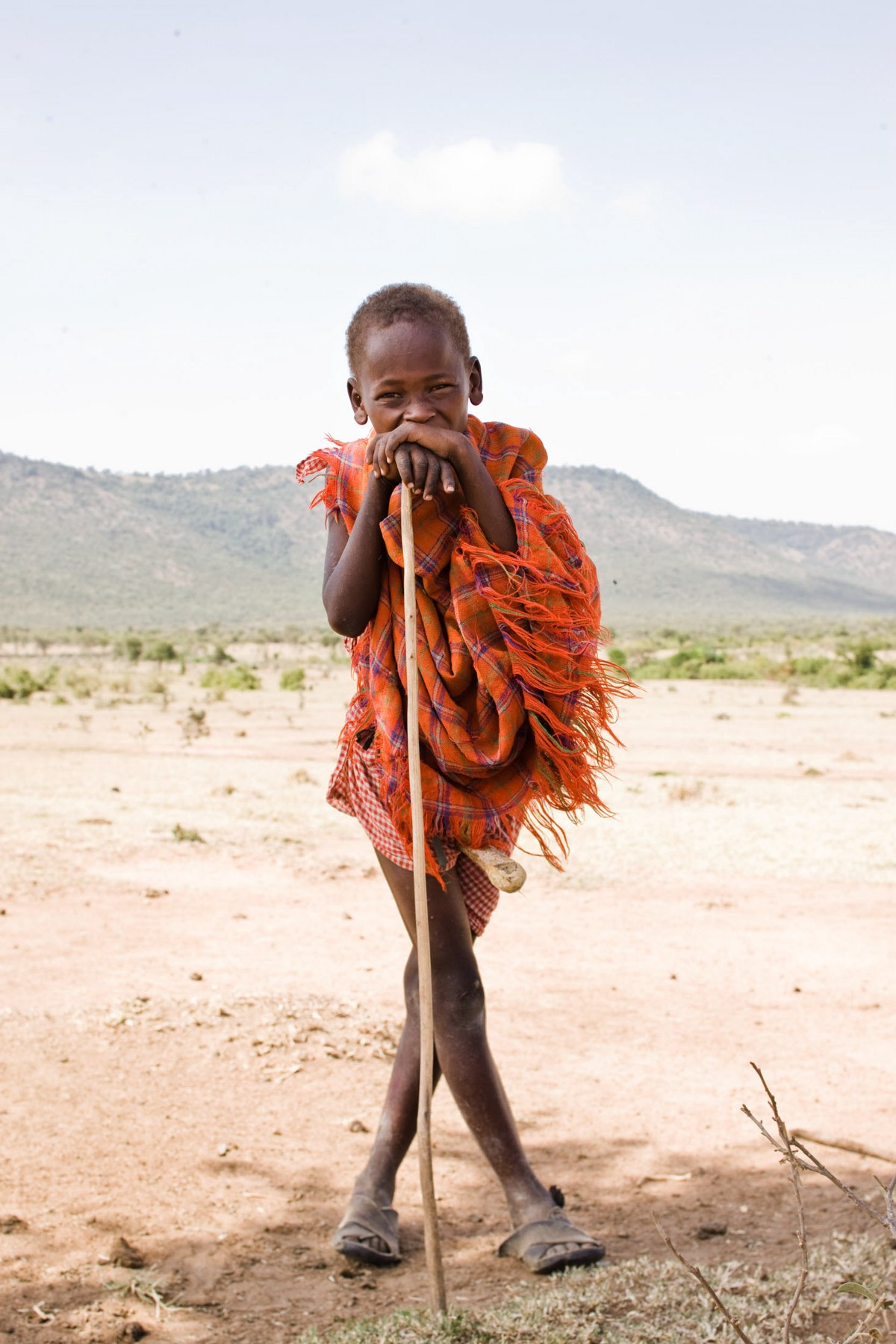 Maasai boys are responsible for herding their family's livestock.