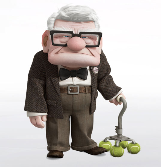 great character carl fredricksen up go into the story
