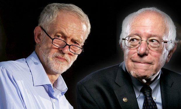 Image result for bernie sanders with jeremy corbyn