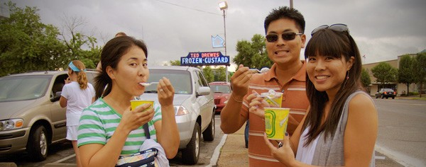 Frozen custard at Ted Drewes