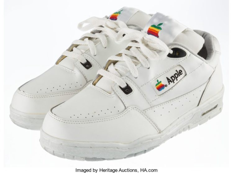 fa37c09401a7 Look slick in these  30000 vintage Apple trainers – The Memo – Medium