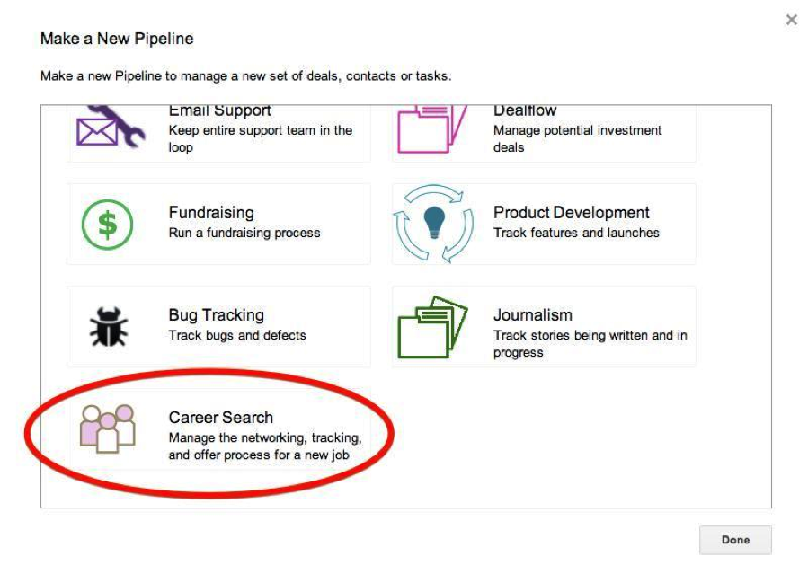 now youll have a career search pipeline with a tracker telling you visually which stage you are in the process for each company there are six stages