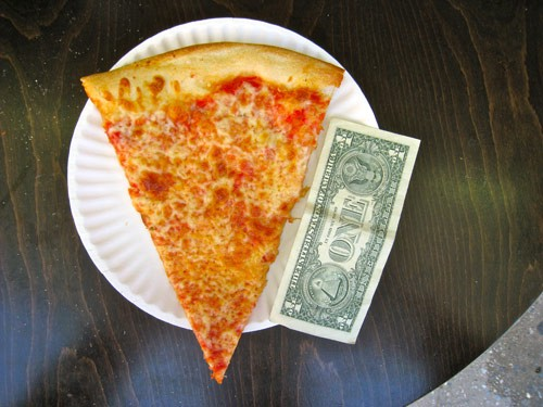 There May Be No Such Thing As A Free Lunch But You Can Get Pretty Close With A 1 Slice Of Pizza For Those Of Us Who Cant Afford A 650 Dinner