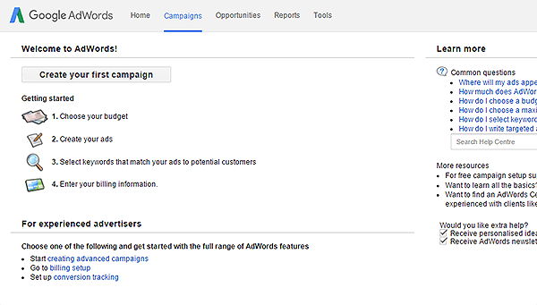 Image result for google adwords setting