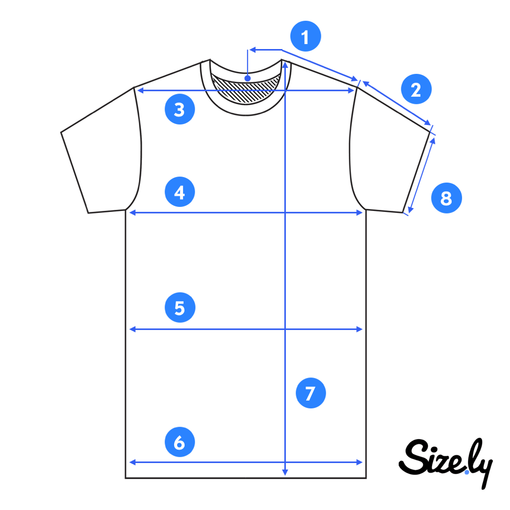 How To Measure A T Shirt Sizely Medium