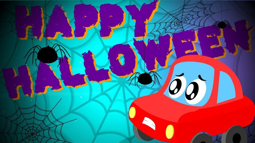 Little Red Car >> Happy Halloween Song Little Red Car Cartoons For Kids