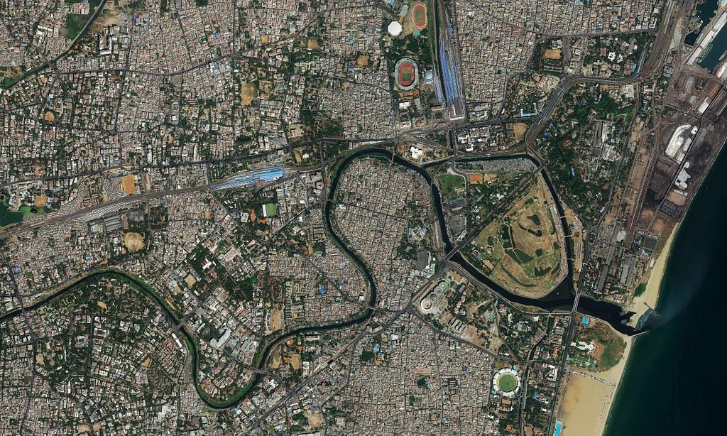 Satellite Map Of Chennai New satellite imagery for cities across India – Points of interest Satellite Map Of Chennai