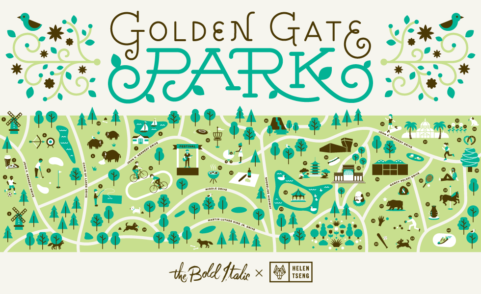 An Illustrated Guide To Golden Gate Park The Bold Italic San