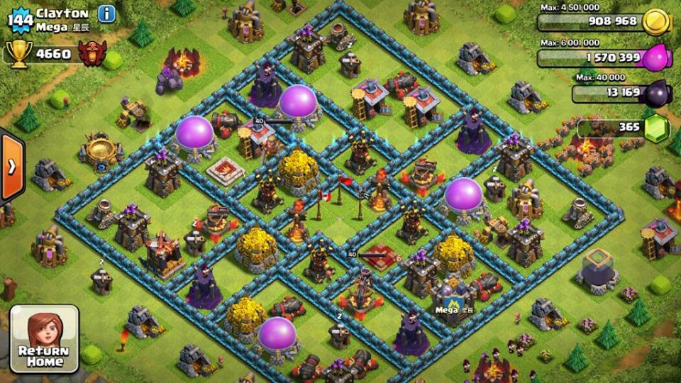 play clash of clans hacked