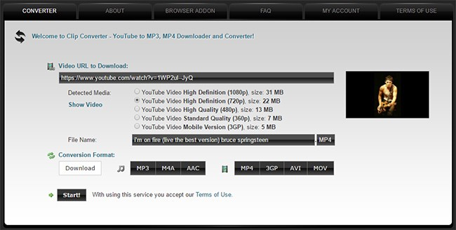 youtube video download online clip converter